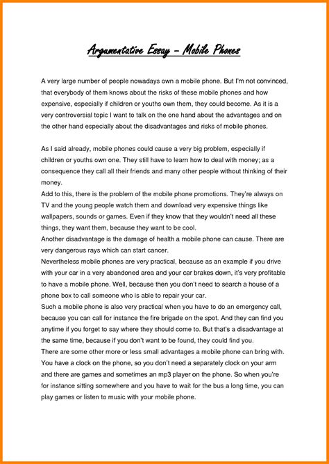 Topic Argumentative Essay by 8 Persuasive Essay Address Exle