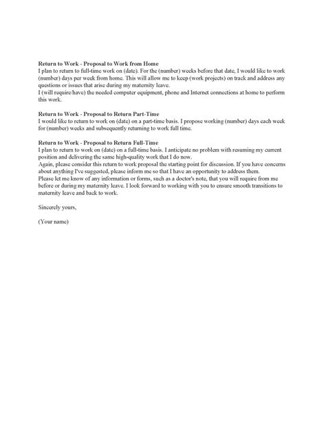 maternity leave letter template employer maternity leave resignation letter sle