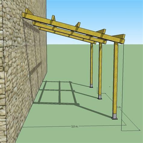 costruire una tettoia addossata pergola addossata 3x5 in legno