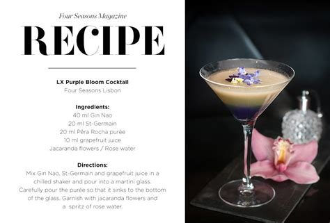 cocktails recipes cocktail recipes four seasons hotels and resorts