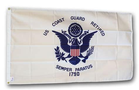 buy coast guard retired  polyester flag flagline