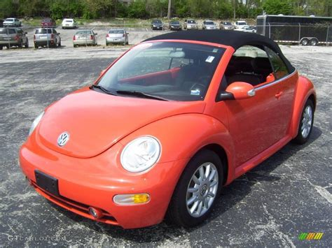 2004 Sundown Orange Volkswagen New Beetle Gls Convertible
