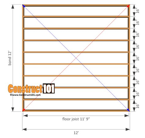 Free 12x12 Shed Blueprints by 12x12 Shed Plans Gable Shed Construct101