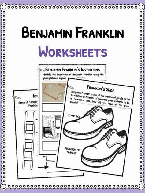 benjamin franklin biography worksheet benjamin franklin facts biography information