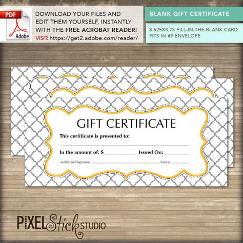 Editable Gift Card Template For Company by 36 Blank Certificate Template Free Psd Vector Eps Ai