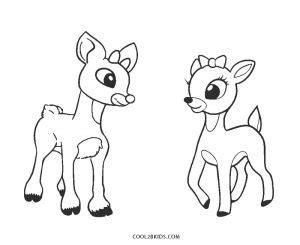 printable reindeer coloring pages  kids coolbkids