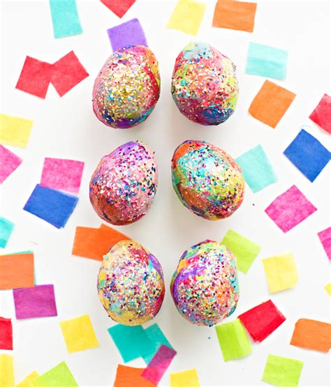 Tissue Paper Easter Crafts - hello wonderful sparkly diy glitter and tissue paper