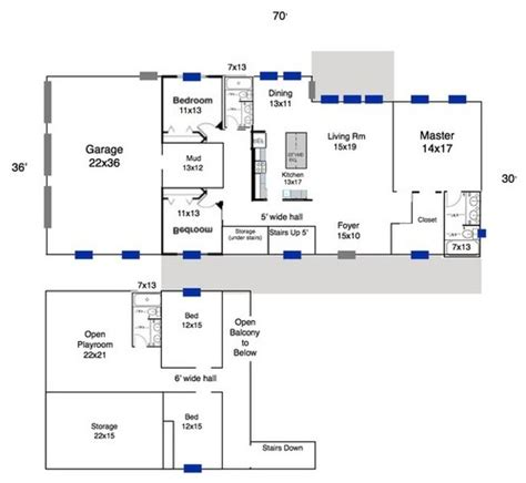 Metal Shop With Living Quarters Floor Plans by Please Review Our Floor Plan
