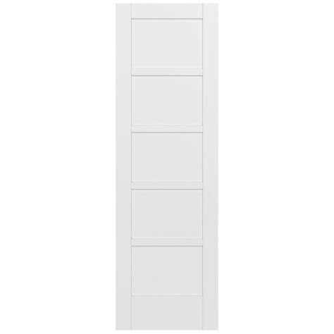 jeld wen 32 in x 96 in moda primed white 5 panel solid