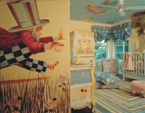 alice in wonderland themed bedroom decor curiouser and curiouser baby nursery decorating idea