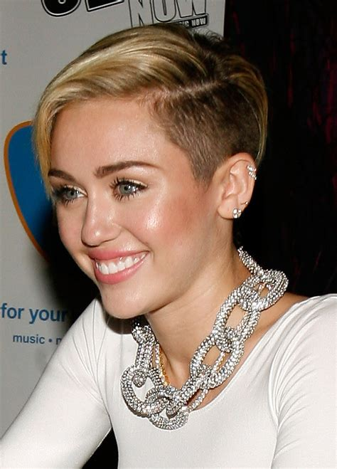short sides long top hairstyles women miley cyrus shave hair pinterest short sides long top