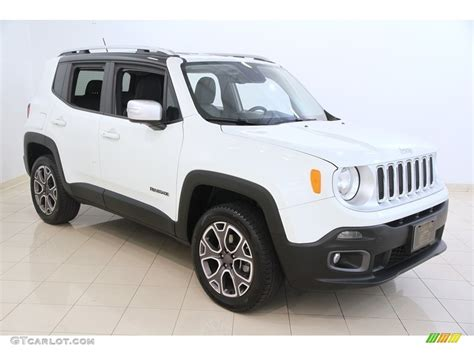 white jeep renegade 2016 alpine white jeep renegade limited 4x4 115838594