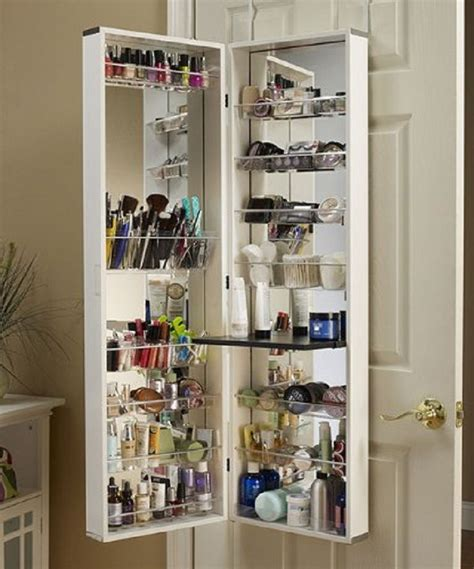 over the door mirrored hanging beauty armoire makeup organizer ideas hanging mugeek vidalondon