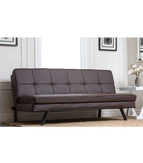 futon brown futons hemingway futon sofa brown