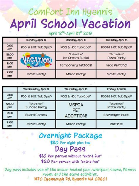 things to do in cape cod in april comfort inn 2013 april school vacation package in