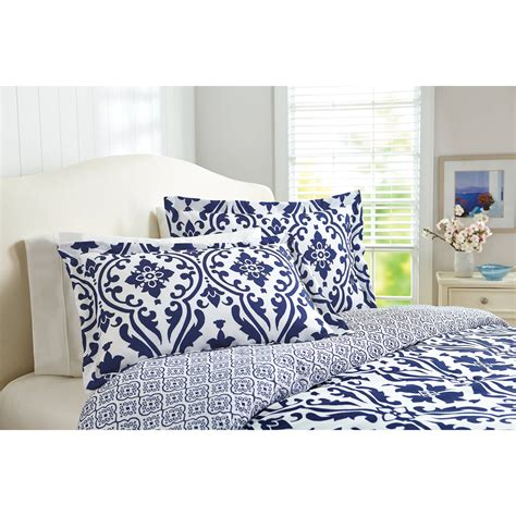 better homes and gardens indigo scrollwork 5 bedding
