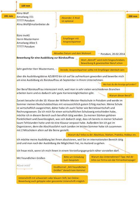 Anschreiben Bewerbung Ausbildung Bürokauffrau Bewerbung Anschreiben B 252 Rokauffrau Yournjwebmaster