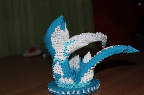 Origami 3d - hartie modelata origami 3d lebada 3d