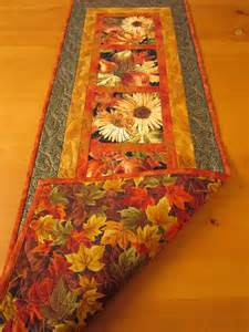thanksgiving table runner fall harvest quilted table