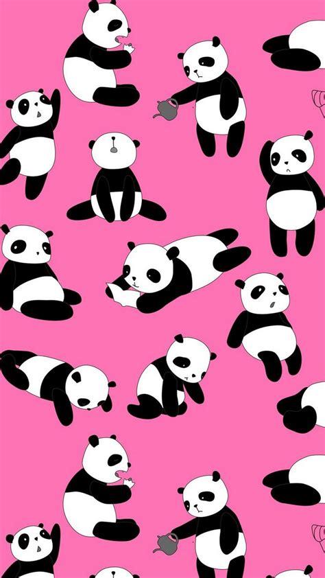 cute panda pink iphone wallpaper iphonewallpapers