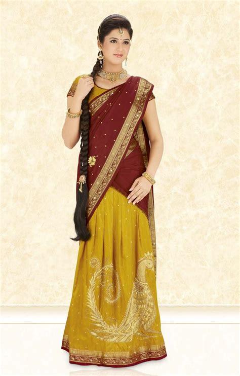 pavadai dhavani  saree designs  saree
