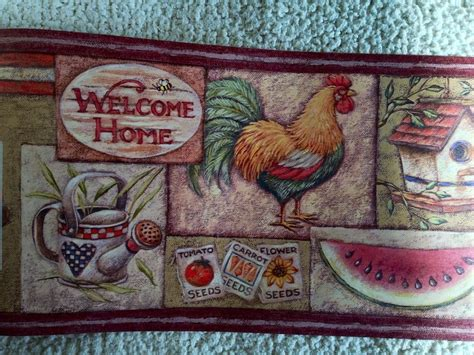 country wallpaper borders for kitchen primitive country kitchen wallpaper border with fruit