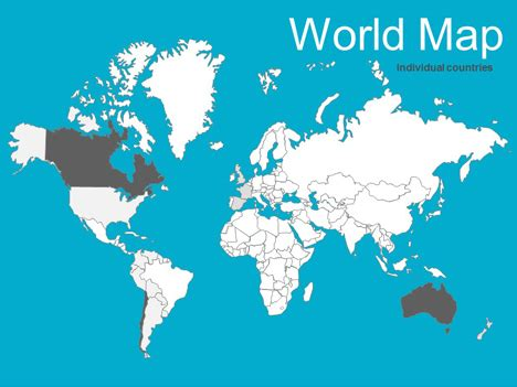 Map Of The World Ppt Timekeeperwatches Powerpoint World Map