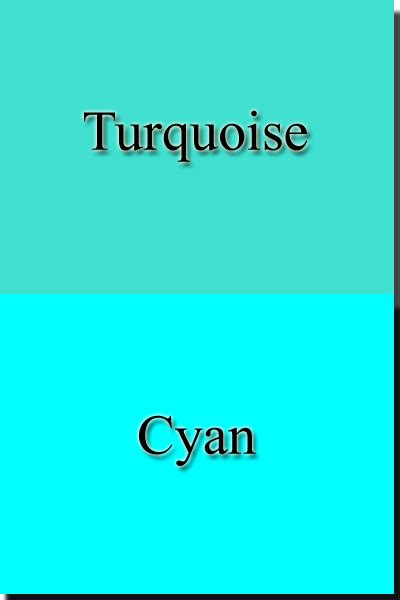 what s the difference between color and colour color turquoise cyan color psychology personality meaning