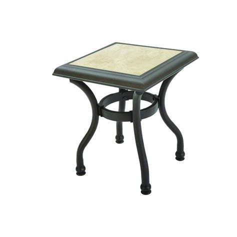 Hton Bay Andrews Patio Side Table Fts79063g The Home Side Patio Table