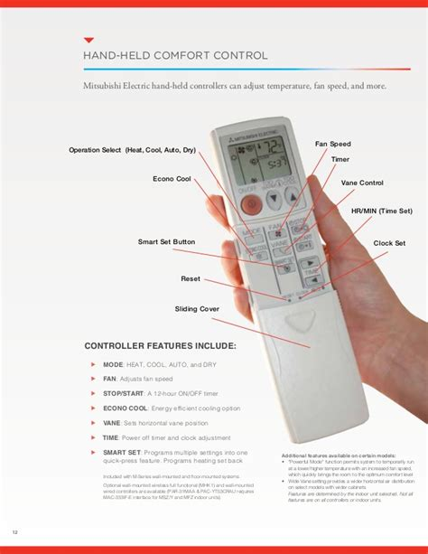 mitsubishi electric air conditioner remote symbols msz fh hyper heating inverter residential heating