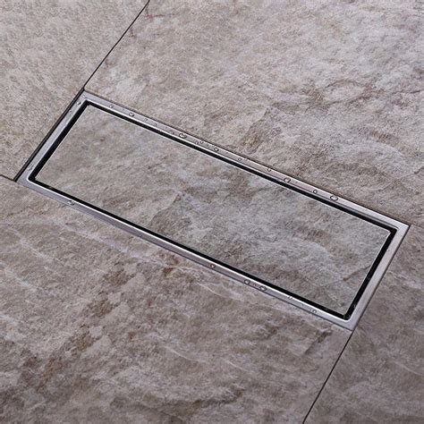 Tile Floor Drain Covers by 2017 Tile Insert Invisible Two Sided Floor Waste Grates