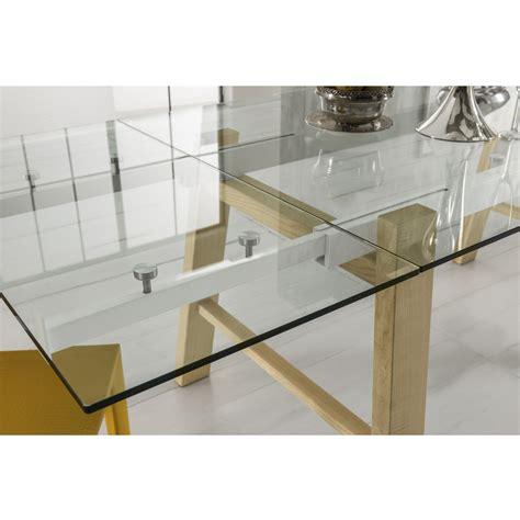 piano vetro per tavolo tavolo da pranzo allungabile piano in vetro gambe legno
