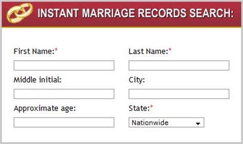 Free Marriage Records Search Freemarriagerecords Records Search