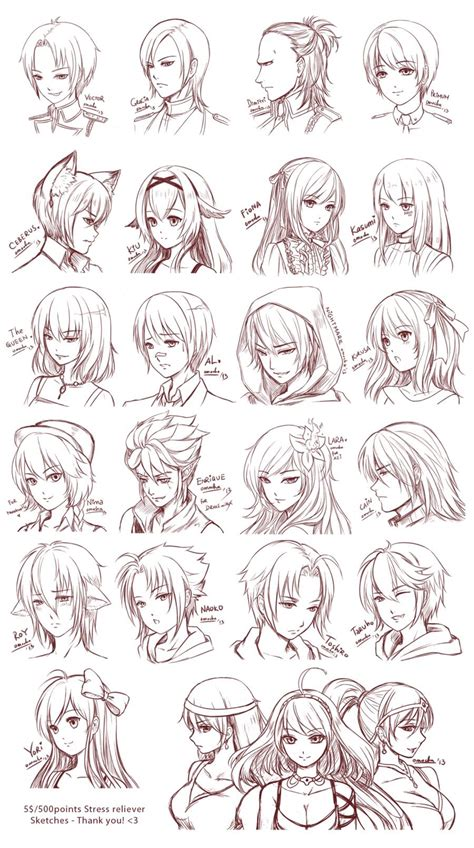 anime hairstyles sketch pin by isabelle czwodzinski on drawing reference hair
