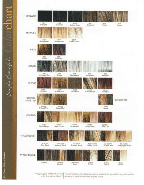 revlon hair color chart revlon colorsilk color chart images