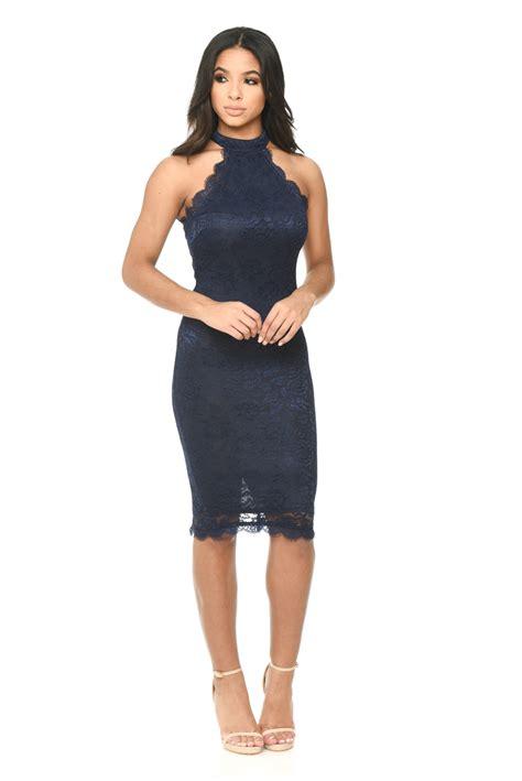 Sleeveless Bodycon Midi Dress ax womens midi dress bodycon navy blue lace