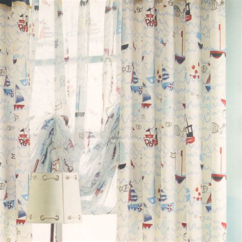 nautical fabric for curtains nautical pattern kids room curtain cotton fabric 2016 new