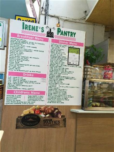 menu picture of irene s pantry plymouth tripadvisor
