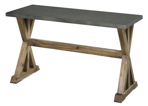 Zinc Console Table Zinc Top Console Table Barn Woods Modern Pinterest
