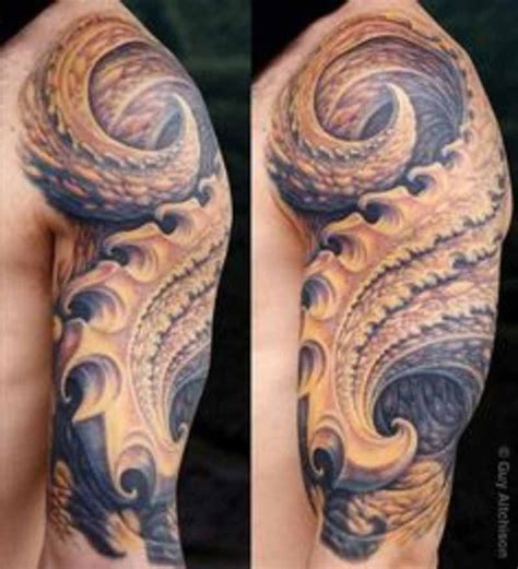 biomechanical tattoo guy aitchison guy aitchison cool sleeve biomechanical tattoo design of