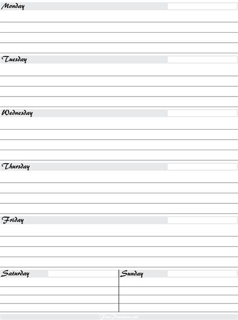 free printable planner pages weekly free printable weekly planners printable weekly planner