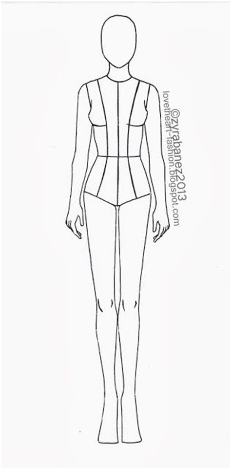 dress design template model best 25 fashion illustration template ideas on