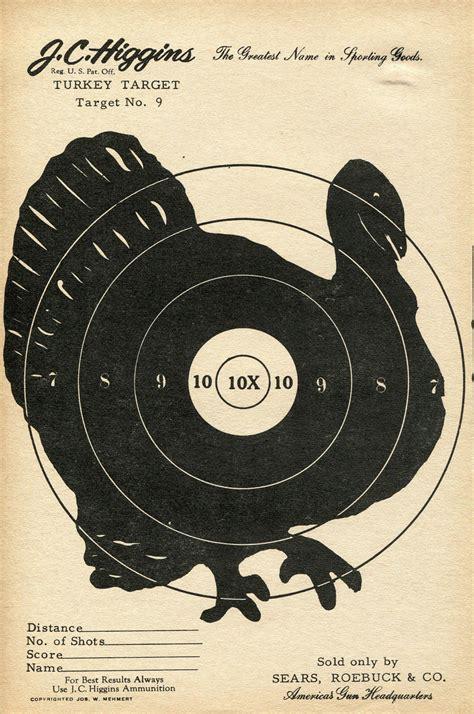 printable turkey targets for shooting vintage shooting target turkey ii