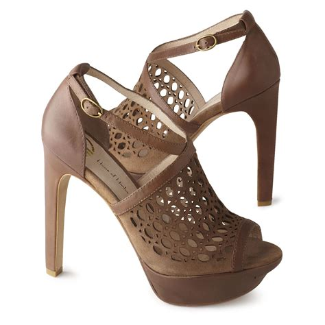house of harlow shoes review house of harlow nita peep toe sandals in brown lyst