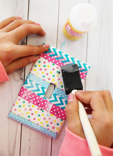Diy Light Cover by Washi Light Switch Cover Bigdiyideas