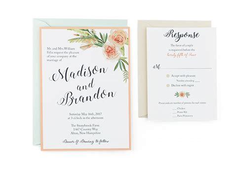 free flower wedding invitation templates flower bouquet