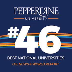 Us News And World Report College Rankings Mba by Pepperdine Ranked 46 In U S News Best Colleges