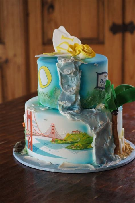 themed birthday cakes for adults california themed waterfall birthday cake adult birthday