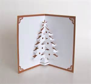 christmas tree 3d pop up greeting card home d 233 cor handmade
