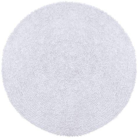 White Circle Rug by White Shag Rug White Associated Weavers